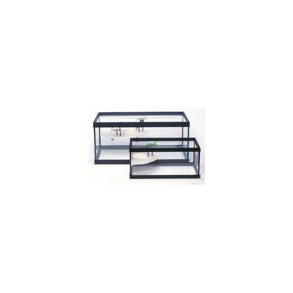 Tartarugueira Cristal 17 L c/ Ilha 42x21x19cm