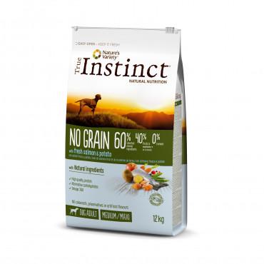 True Instinct Grain Free Medium/Maxi Adult Salmão 12Kg