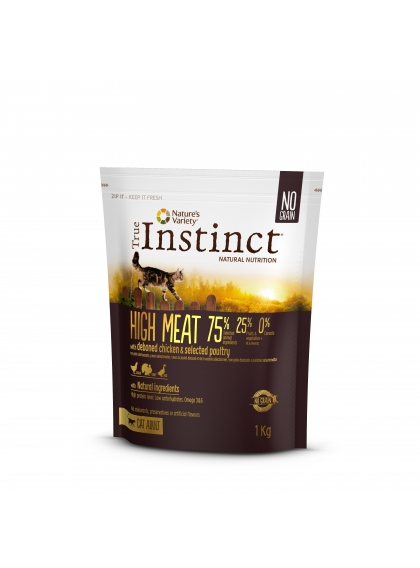 True Instinct High Meat Gato Adulto Chicken 1Kg