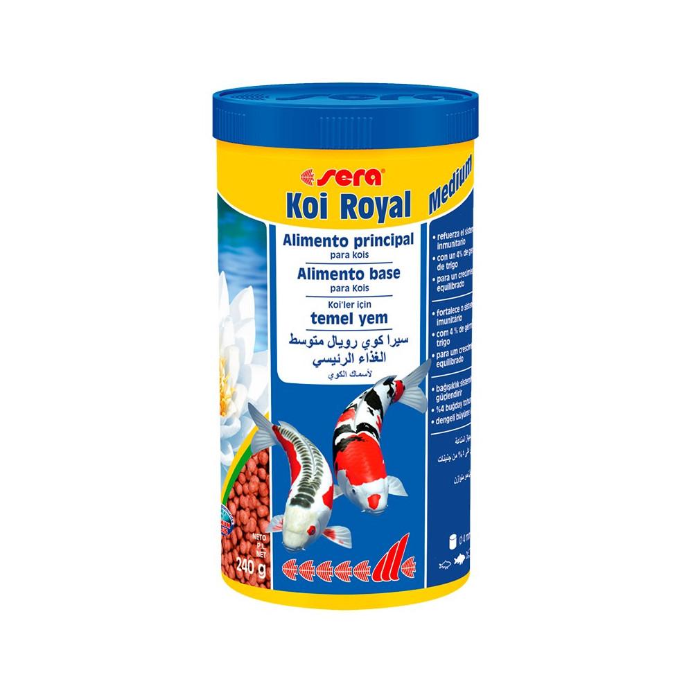Alimento para peixes sera koi royal medium 1000ml for Alimento para carpas koi