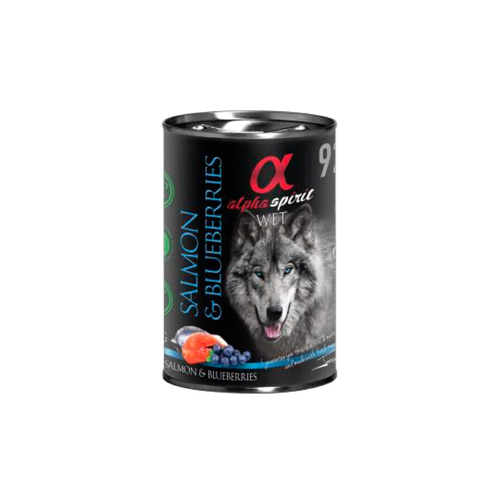 Alpha Spirit Wetfood - Salmão e Mirtilos 400gr