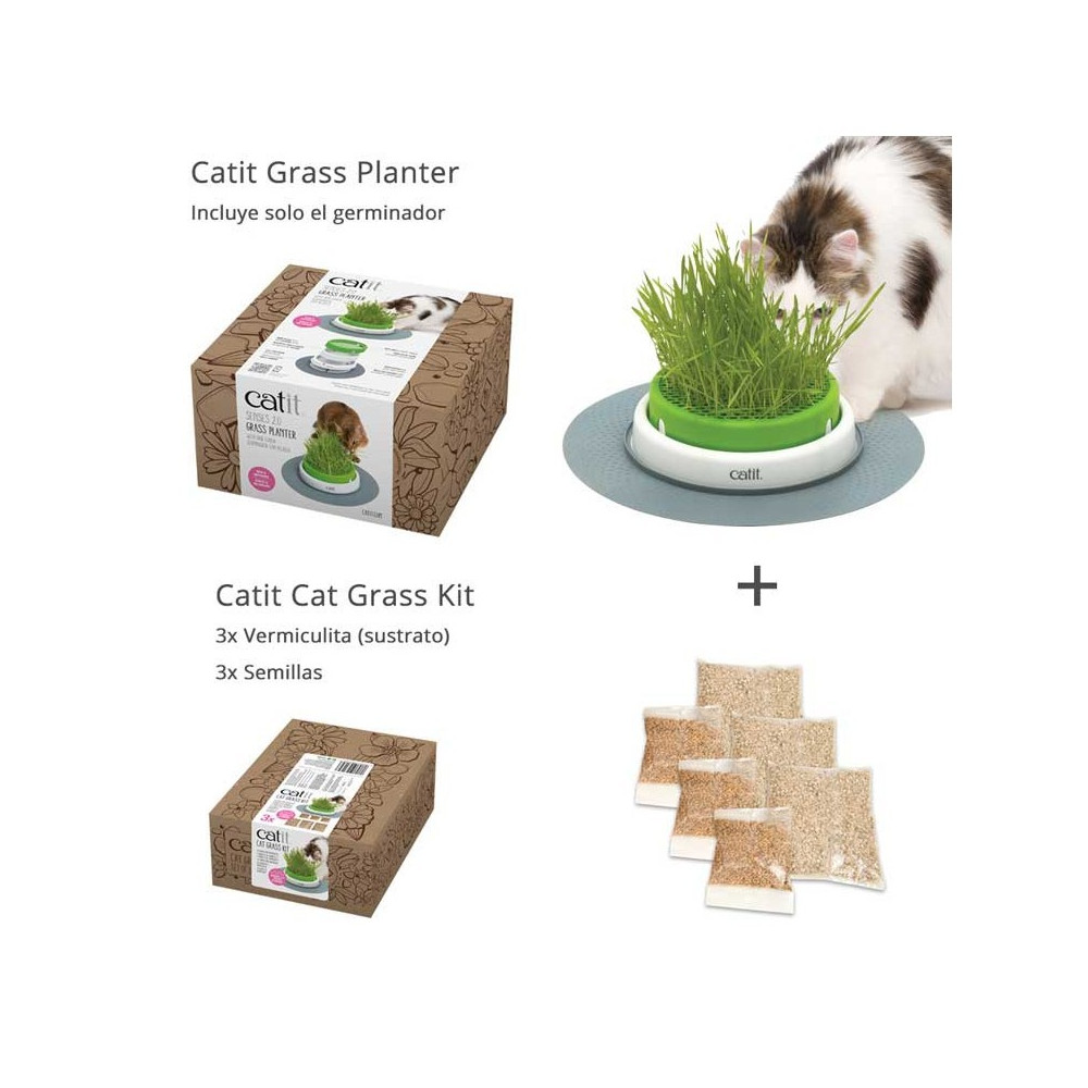 CATIT - Senses 2.0 Grass Planter Germinator KIT Completo