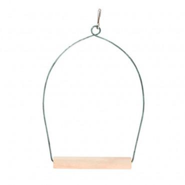 Poleiro Oval c/ madeira 10x20cm