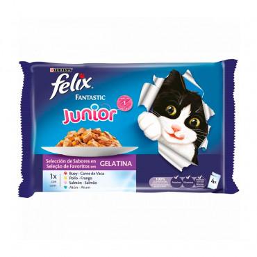 Felix Fantastic Junior - Seleção de carnes em gelatina Pack 4