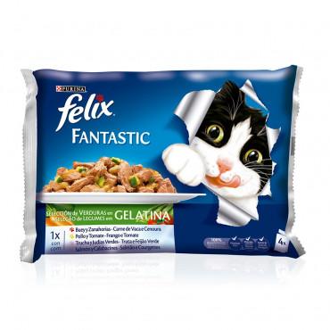 FELIX FANTASTIC - Selecção com legumes em gelatina 4x100gr