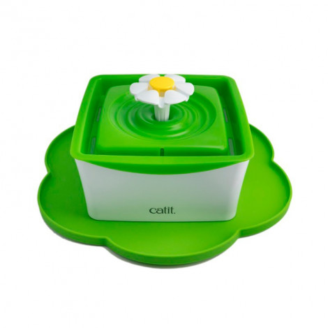 Catit - Mini Bebedouro Fonte Flor 'Flower Fountain' 1.5Lt + Base Silicone