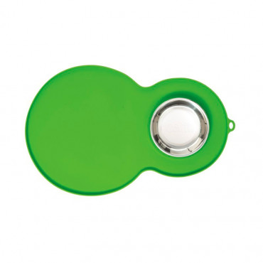 Catit - Base de Silicone 45x30cm (verde) + Comedouro Inox