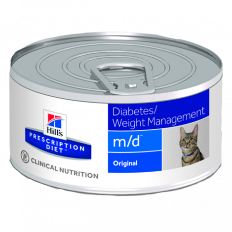 M/D Feline - Diabetes Mellitus/Excesso de Peso 156Gr (Lata)