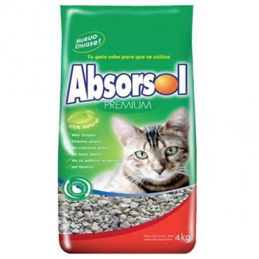 Absorsol - Granulado Higiénico p/ Gatos 4Kg