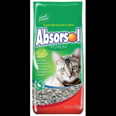 Absorsol - Granulado Higiénico p/ Gatos 2Kg