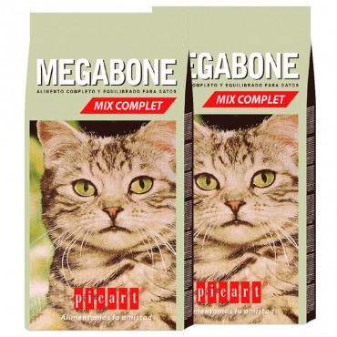 2 sacos Picart Megabone - Gatos Mix 20Kg