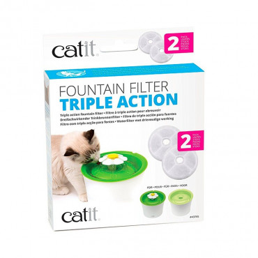 Catit - Filtro Tripla Ação para Bebedouro Flower 2pcs