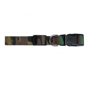 Freedog - Coleira Nylon Camuflado Militar 15mm / 35x50cm