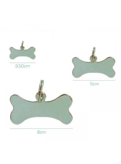 Identificador Metal em Osso Pequeno - 3.5cm