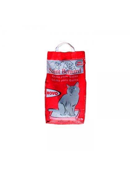 Areia Saint Bernard p/ gatos 5kg - Vermelha