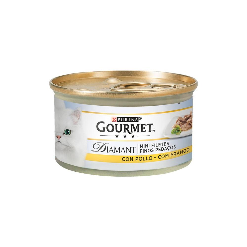 Gourmet Diamant - Finos Pedaços em Molho com Frango 85gr