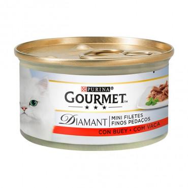 Gourmet Diamant - Finos Pedaços em Molho com Carne de Vaca 85gr