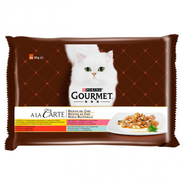 Gourmet a la Carte - As Receitas do Chef: Frango/Truta/Vaca/Bacalhau 4x85g