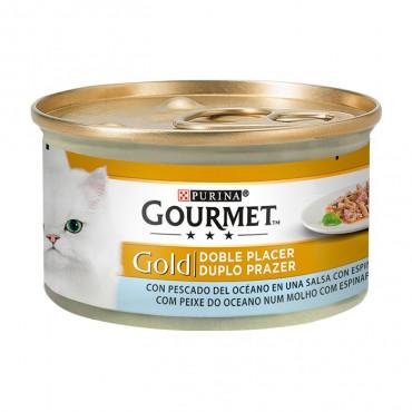 Gourmet Gold Peixe do Oceano & Espinafres (Duplo Prazer)