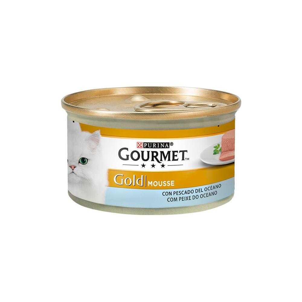 Gourmet Gold Peixe do Oceano 85gr (Mousse)