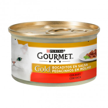 Gourmet Gold Carne de Vaca (Pedacinhos em Molho)