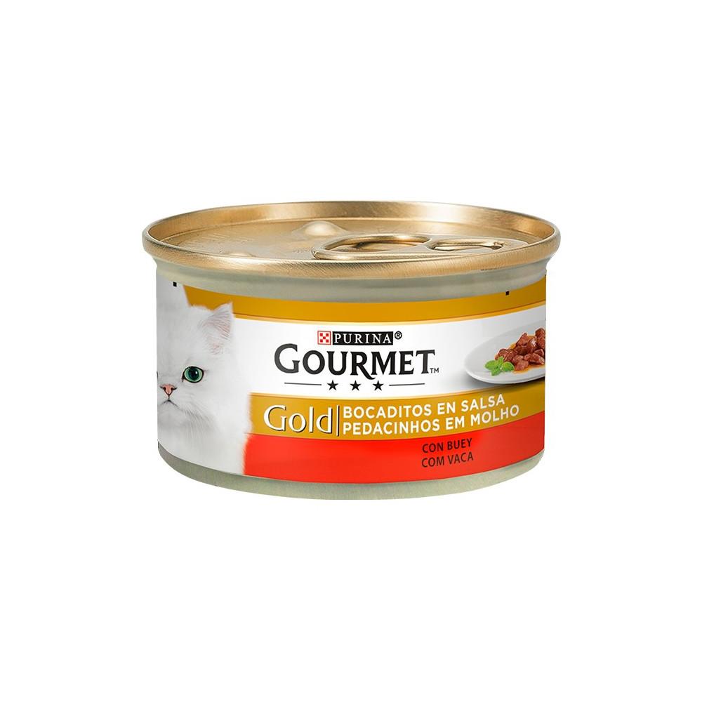 Gourmet Gold Carne de Vaca 85gr (Pedacinhos em Molho)