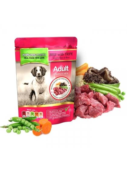 NATURES MENU Húmida Cão Carne de Vaca e Tripa