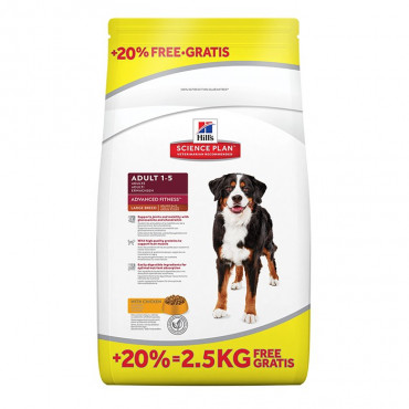 Hill's - Canine Adult Large Breed Frango 12+2,5kg OFERTA