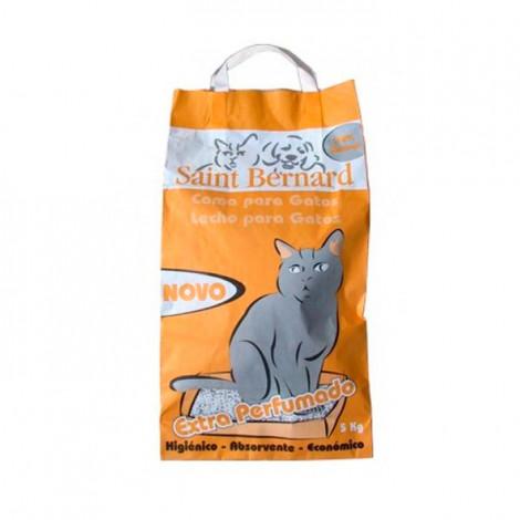 Areia Saint Bernard Extra Perfumado p/ gatos 5kg - Laranja