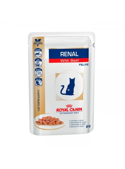 Ração para gato Royal Canin Wet Renal Beef