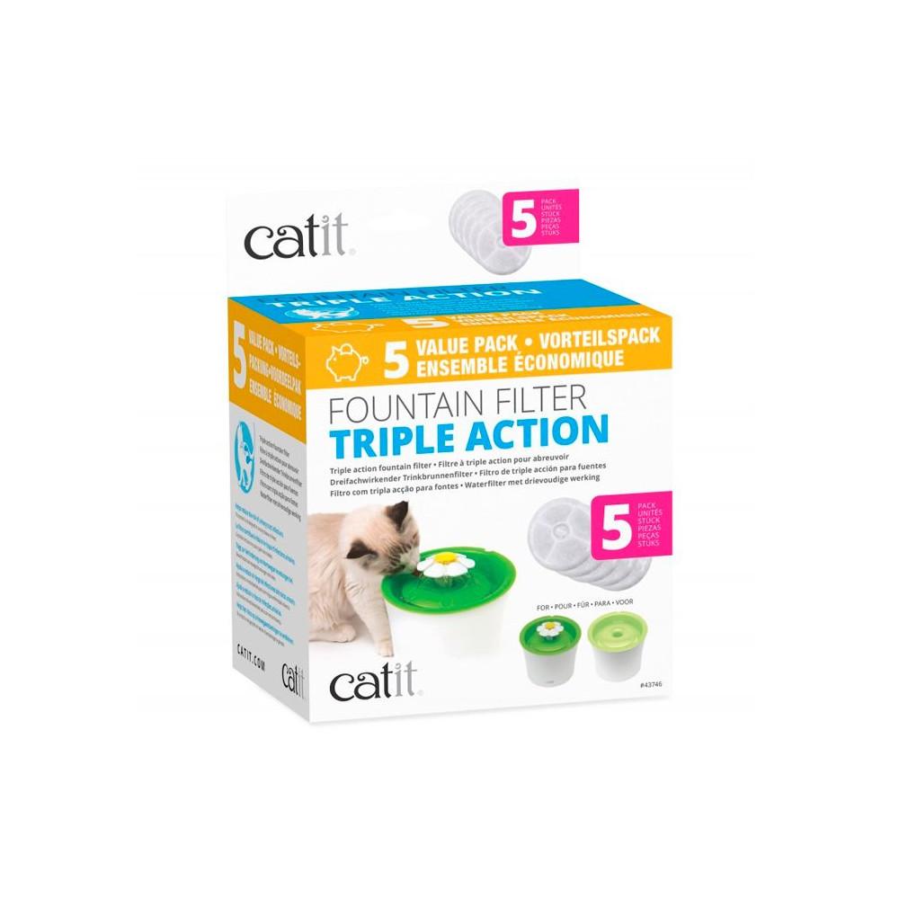 Catit - Filtro Tripla Ação para Bebedouro Flower 5pcs