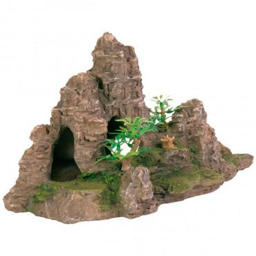 Escarpa Rochosa com Cavidades e Plantas