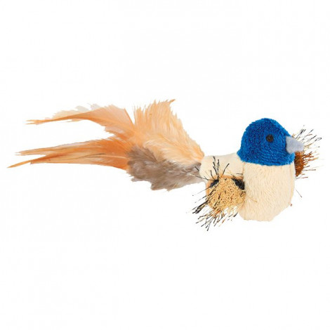 Pássaro em Peluche c/ Penas ⵘ