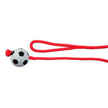Bola Futebol em Borracha c/ Corda Multicolorida