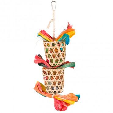 Brinquedo Natural c/ Folha Palmeira e Fibras