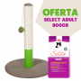 Arranhador Poste OPAL BASIC + OFERTA 1 saco SELECT CAT ADULT 800gr