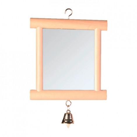 Espelho em Madeira Natural com Sino