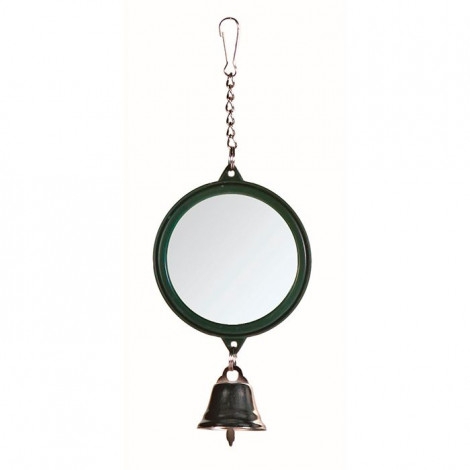 Espelho Redondo com Sino para Aves