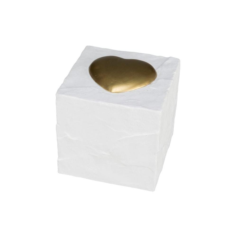 Lápide Cubo com Coração