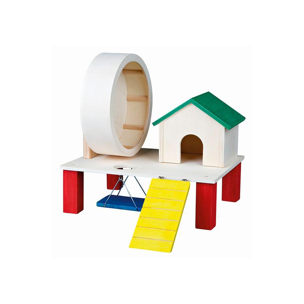 PLAYGROUND em Madeira Colorida para Hamsters