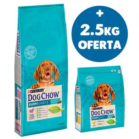DOG CHOW - Puppy Borrego 14Kg + 2.5Kg OFERTA