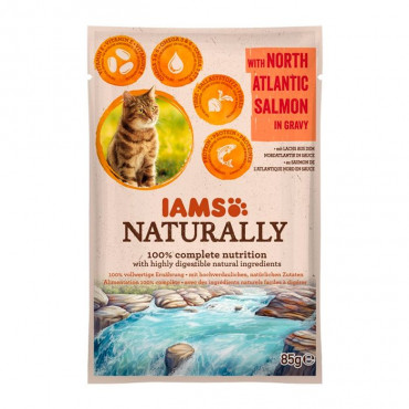 IAMS Cat Naturally - Adult Salmão 85gr