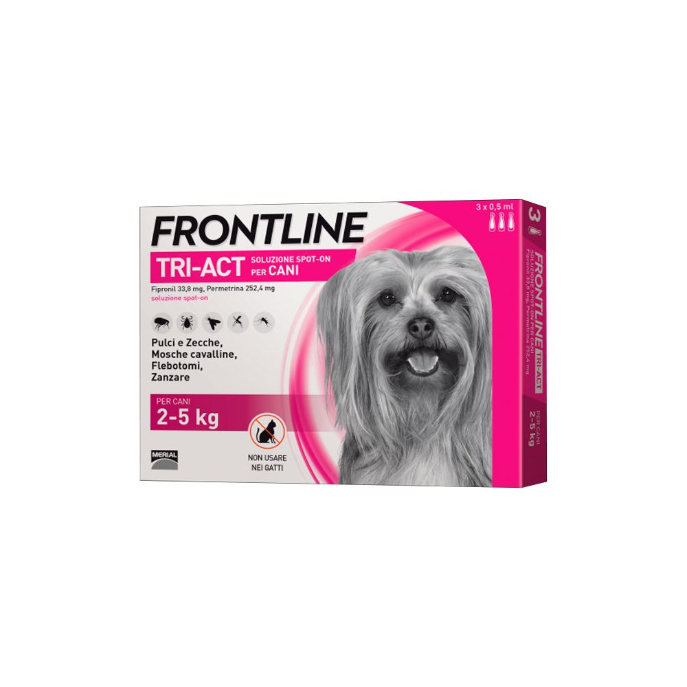 Frontline Tri-Act Cão 2kg a 5kg