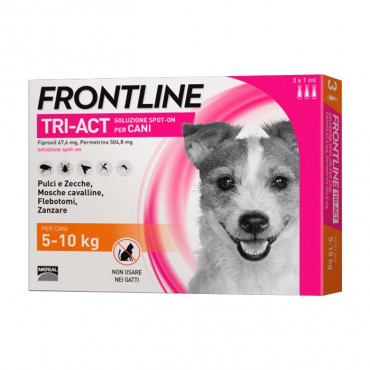 Frontline Tri-Act Cão 5kg a 10kg
