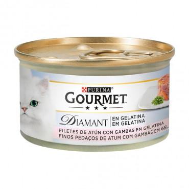 Gourmet Diamant - Atum em gelatina com Gambas 85gr - PACK 12 Latas