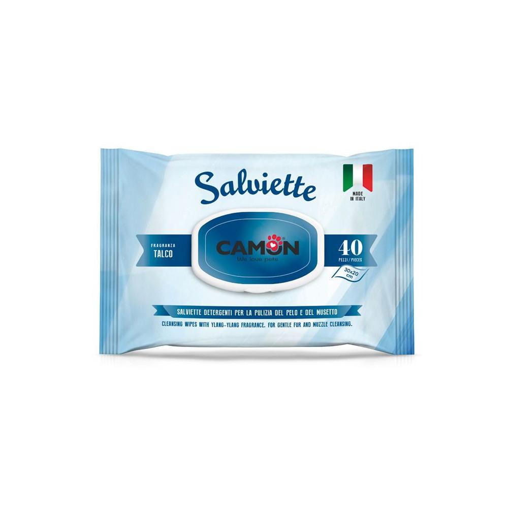Toalhetes Húmidos p/ Limpeza do Pêlo - TALCO