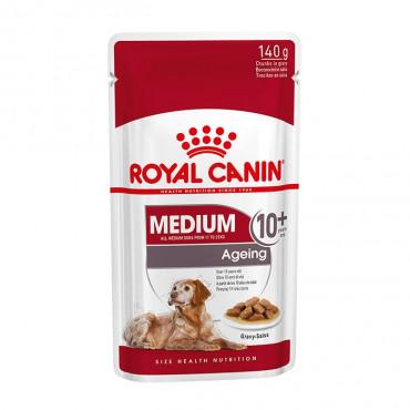 Ração para cão Royal Canin Medium Sénior 10+ Húmida