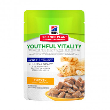 Hill's Feline Adult +7 Youthful Vitality Frango 85gr