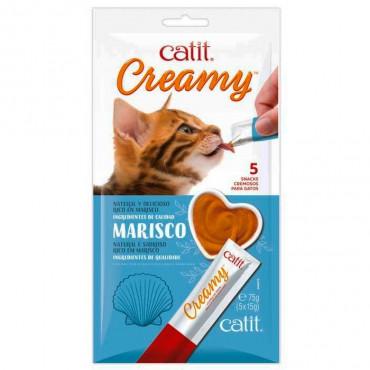Catit - Creamy Snack Líquido de Marisco 5x15gr