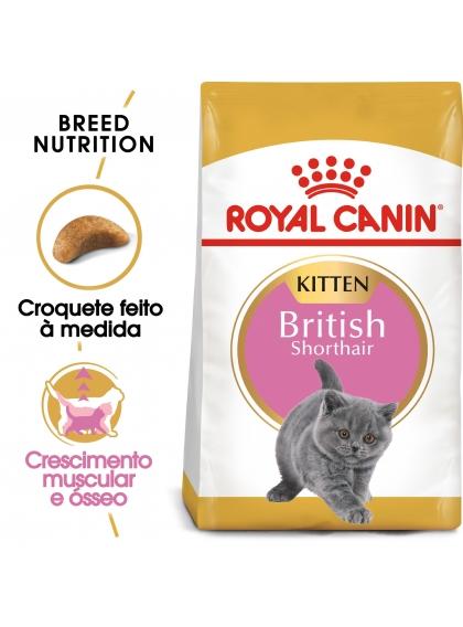 Ração para gato Royal Canin Kitten British Shorthair 2Kg